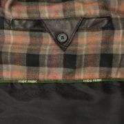 Mens leather bodywarmer black antique inside pocket Monty