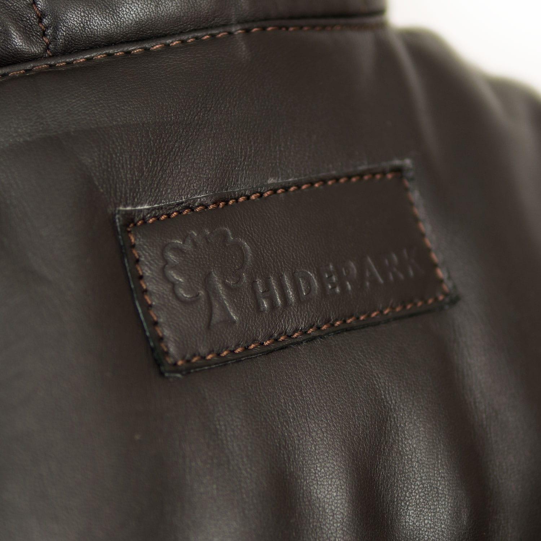 Mens Black Leather Bodywarmer Monty