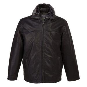 Mens Leather Jacket Bill Black