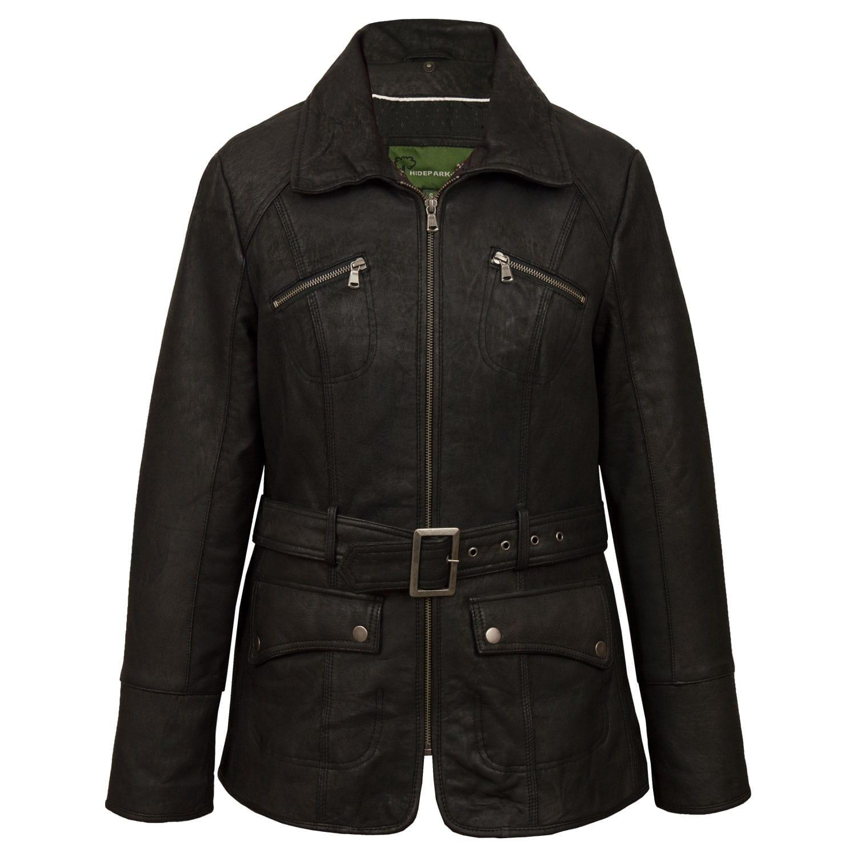 Womens Leather jacket black Laura