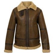 Womens Antique Brown sheepskin jacket