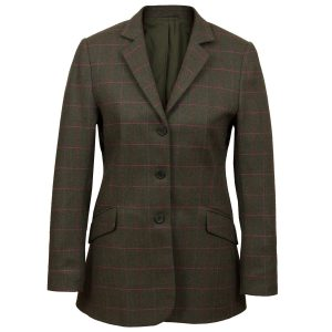 Womens Green tweed jacket Lomond
