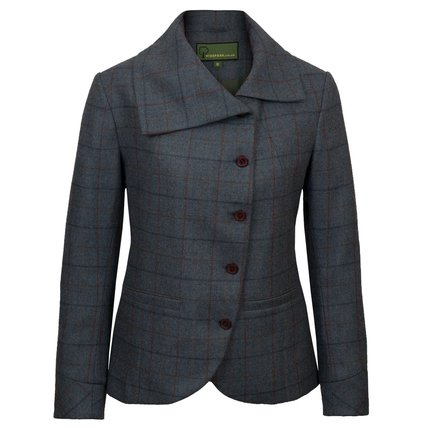 Womens blue tweed jacket Oban