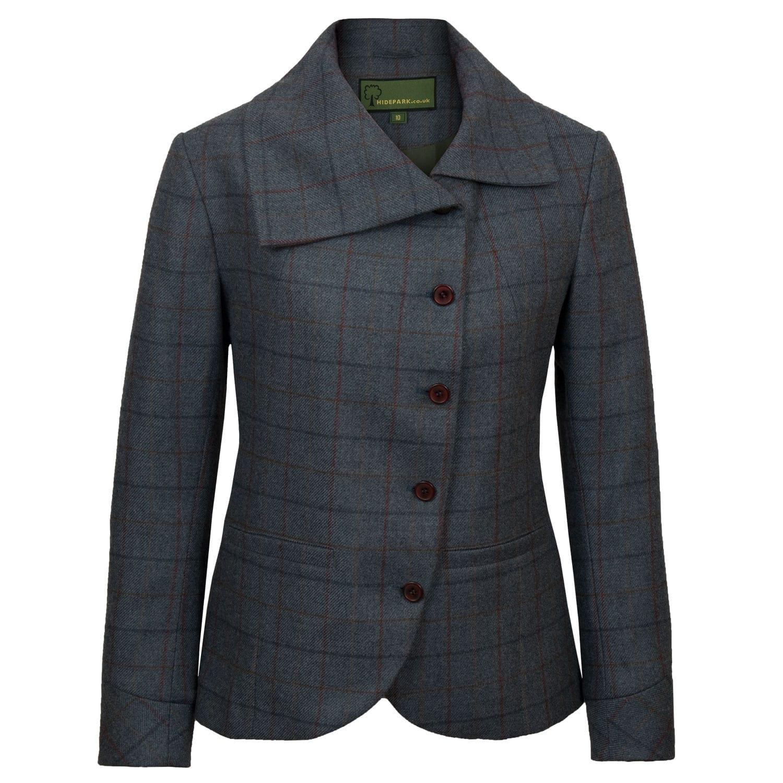 Womens blue tweed jacket Oban