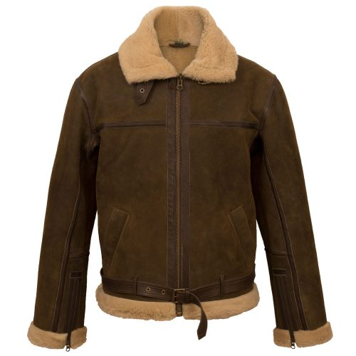 Gents B sheepskin flying jacket Antique