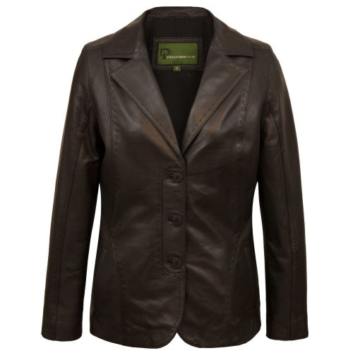 Ladies Black leather blazer Chloe