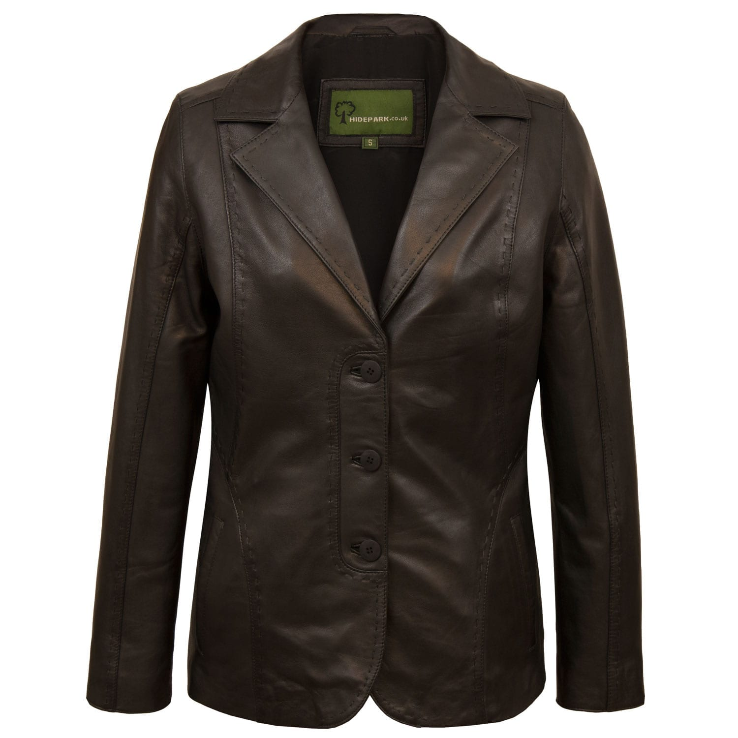 Ladies Black leather blazer Chloe