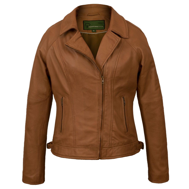 Tan Womens leather jacket Viki
