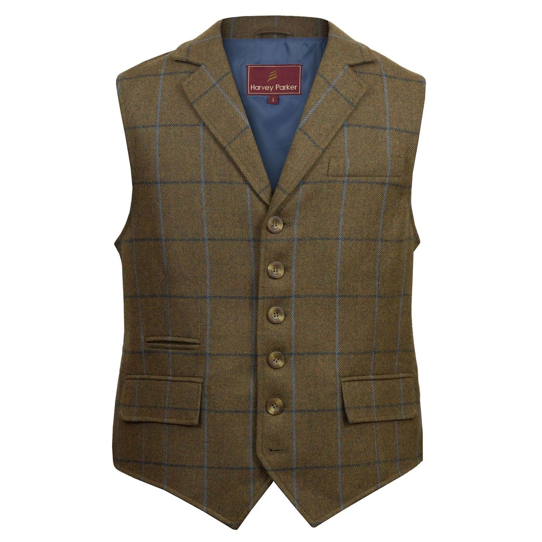 Gents-Tweed-Waistcoat-Brown