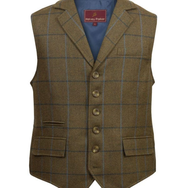 Gents Tweed Waistcoat Brown