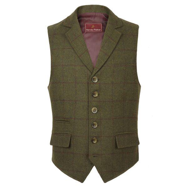 Gents-green-tweed-waistcoat-Galloway