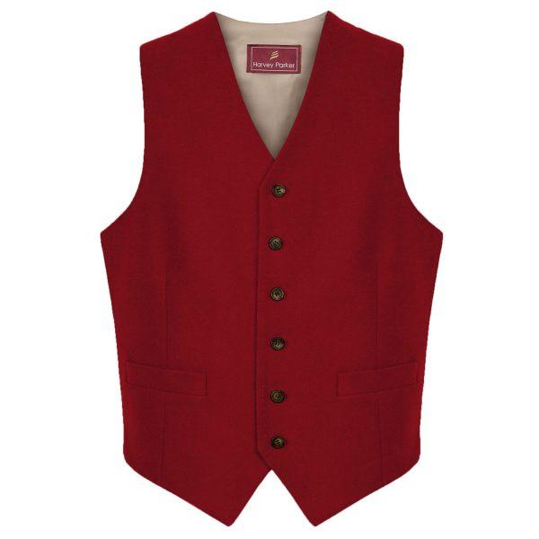 Mens-moleskin-waistcoat-red-cobham