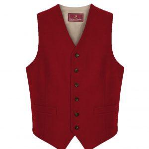 Mens moleskin waistcoat red cobham
