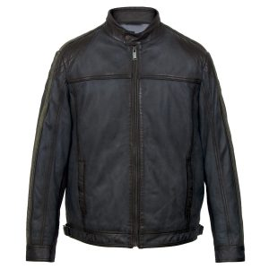 Gents Blue leather jacket Jerome