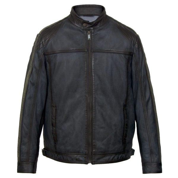 Gents Blue leather jacket Jerome