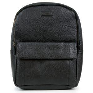 Arabella: Women's Black Leather Backpack by Hidepark