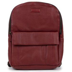 Arabella: Women's Wine Red Leather Backpack by Hidepark
