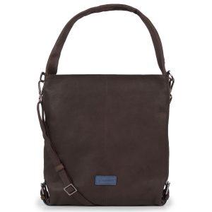Women's Brown Cassandra Leather Shoulder bag - front view