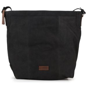 Felicity: Women's Black Leather Handbag by Hidepark