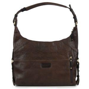 Penelope: Women's Brown Leather Handbag by Hidepark