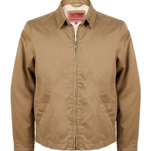Yarborough: Men's Cotton Casual Jacket in Ochre by Hidepark