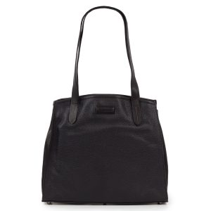 Fiona: Women's Black Leather Handbag