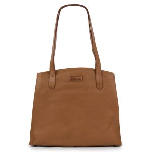 Fiona: Women's Cognac Leather Handbag