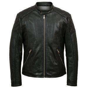 Noah mens black leather jacket by Hidepark