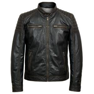 Tate mens brown leather jacket by Hidepark