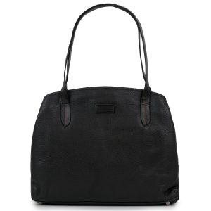 Black leather Athena bag by Hidepark