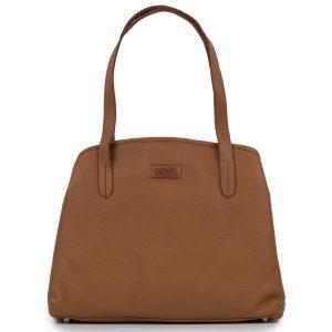 Brown leather Women's Cognac bag by Hidepark
